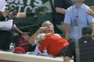 George W. Bush Dodges Foul Ball At Texas Ranger Game