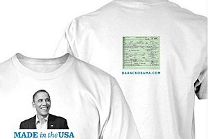 Obama Reelection Campaign Selling Birth Certificate T-Shirts