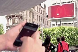 McDonald's Billboard Hosts Giant Game of Pong